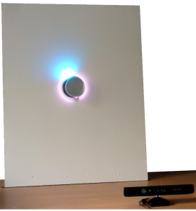 The Gesture Thermostat, featuring an interactive light display.