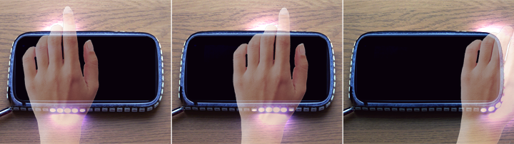 Rhythmic gesture display